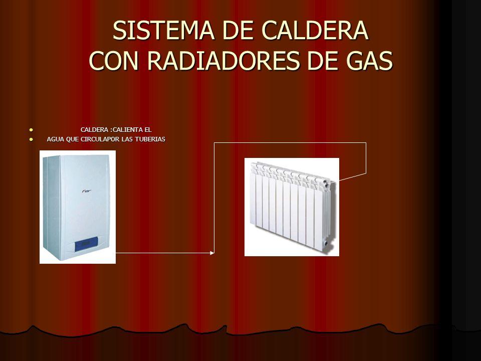 SISTEMA DE CALDERA CON RADIADORES DE GAS