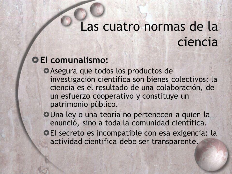 Las cuatro normas de la ciencia