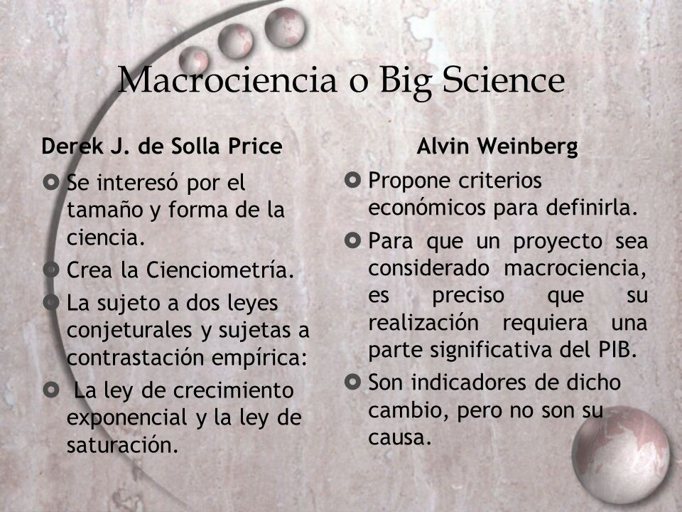 Macrociencia o Big Science