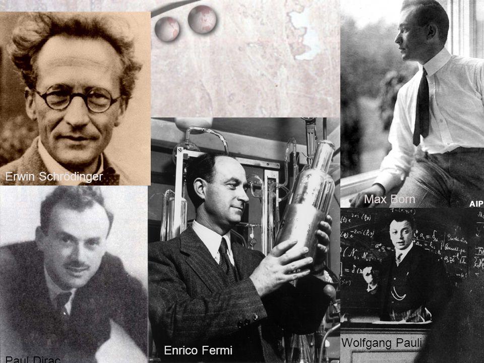 Erwin Schrödinger Max Born Wolfgang Pauli Enrico Fermi Paul Dirac