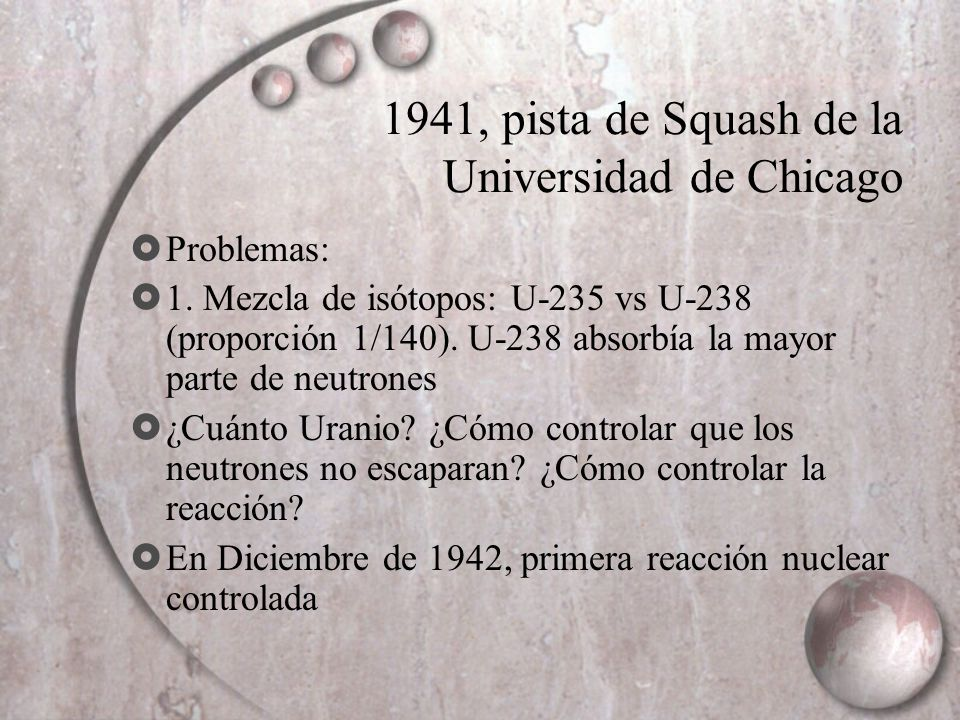 1941, pista de Squash de la Universidad de Chicago