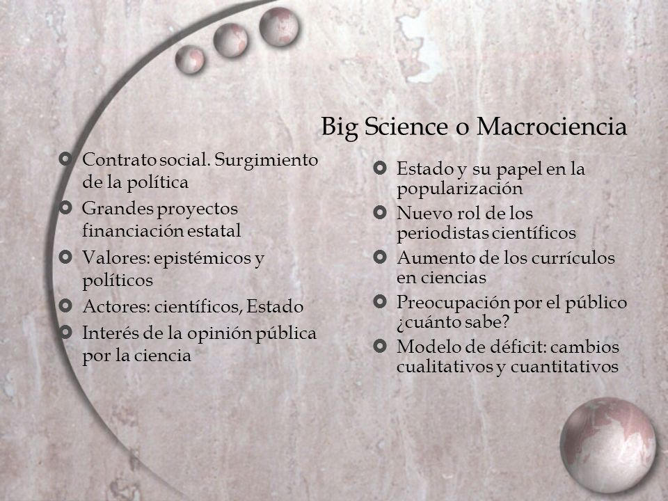 Big Science o Macrociencia