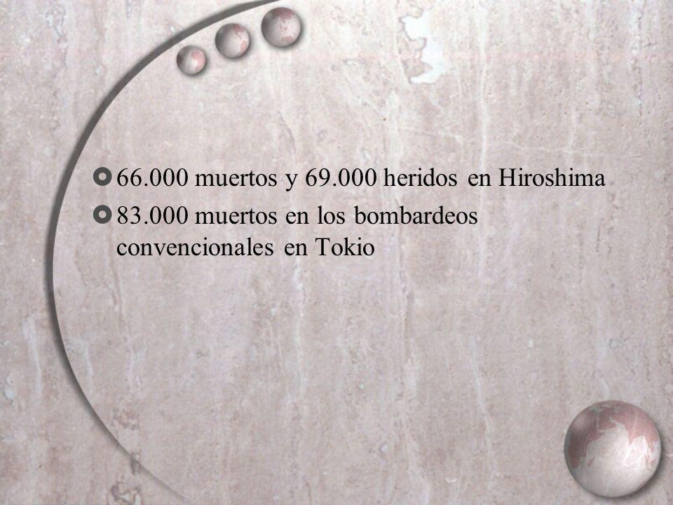 66.000 muertos y 69.000 heridos en Hiroshima