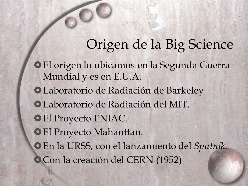 Origen de la Big Science