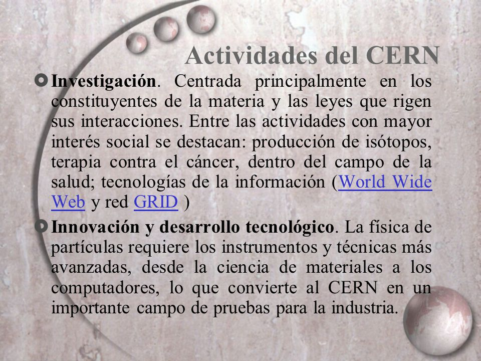 Actividades del CERN