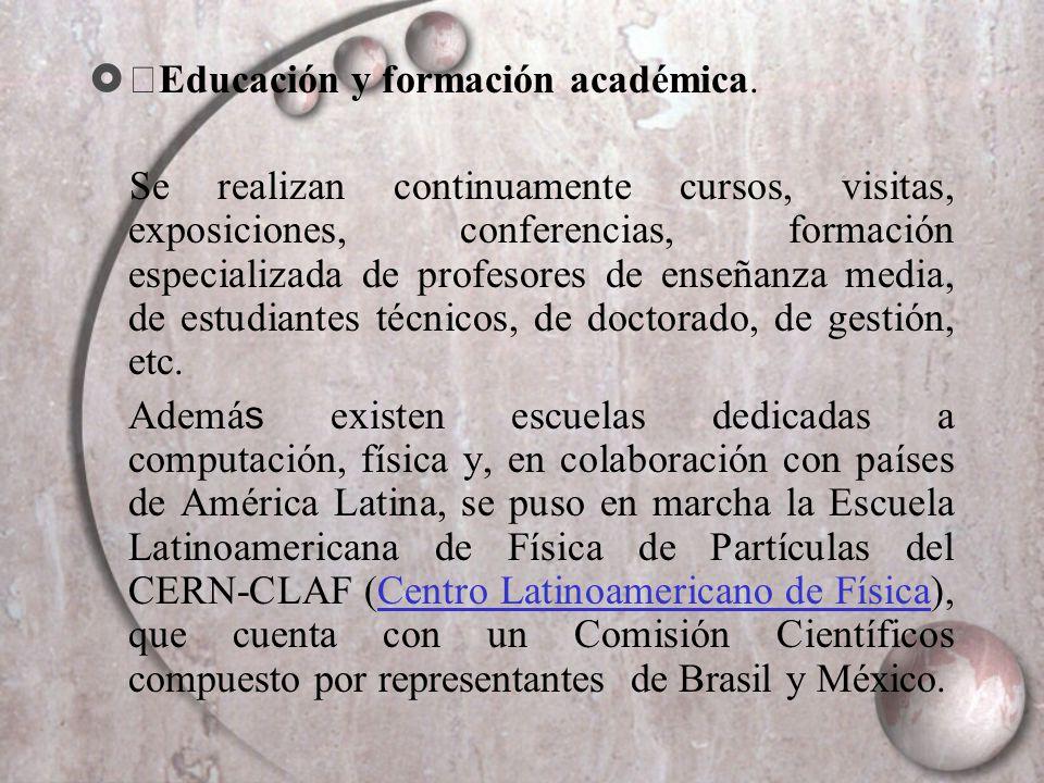 ・Educación y formación académica.