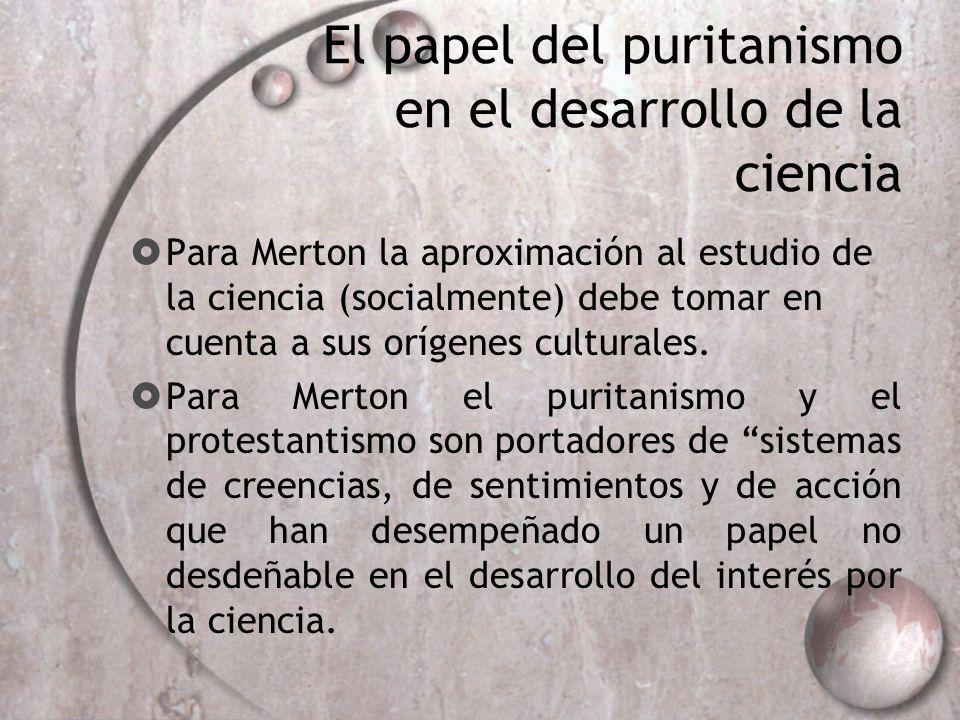 El papel del puritanismo en el desarrollo de la ciencia