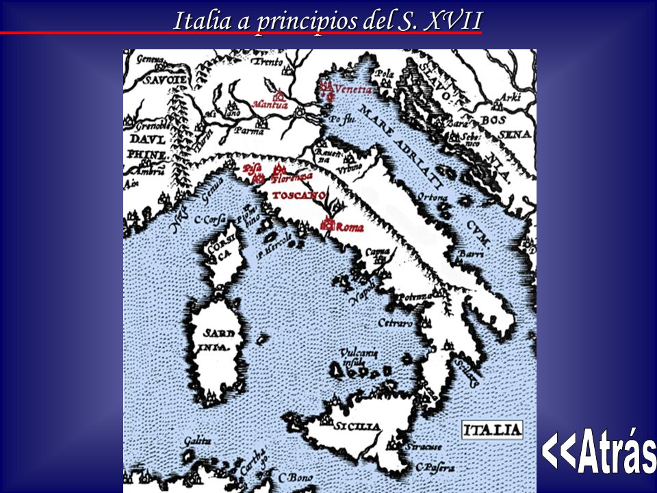 Italia a principios del S. XVII