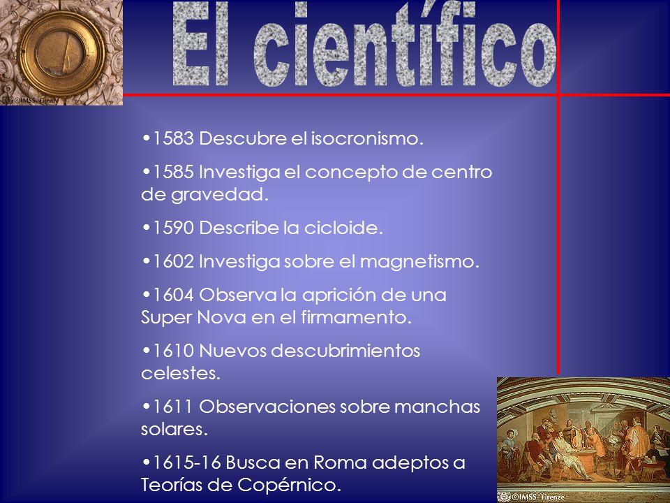 El científico 1583 Descubre el isocronismo.