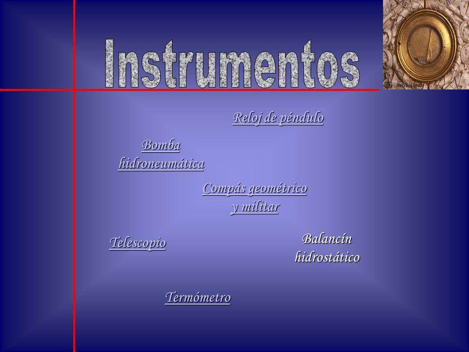 Instrumentos Reloj de péndulo Bomba hidroneumática