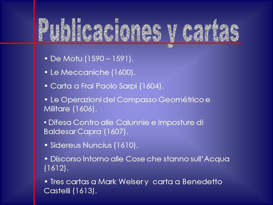 Publicaciones y cartas