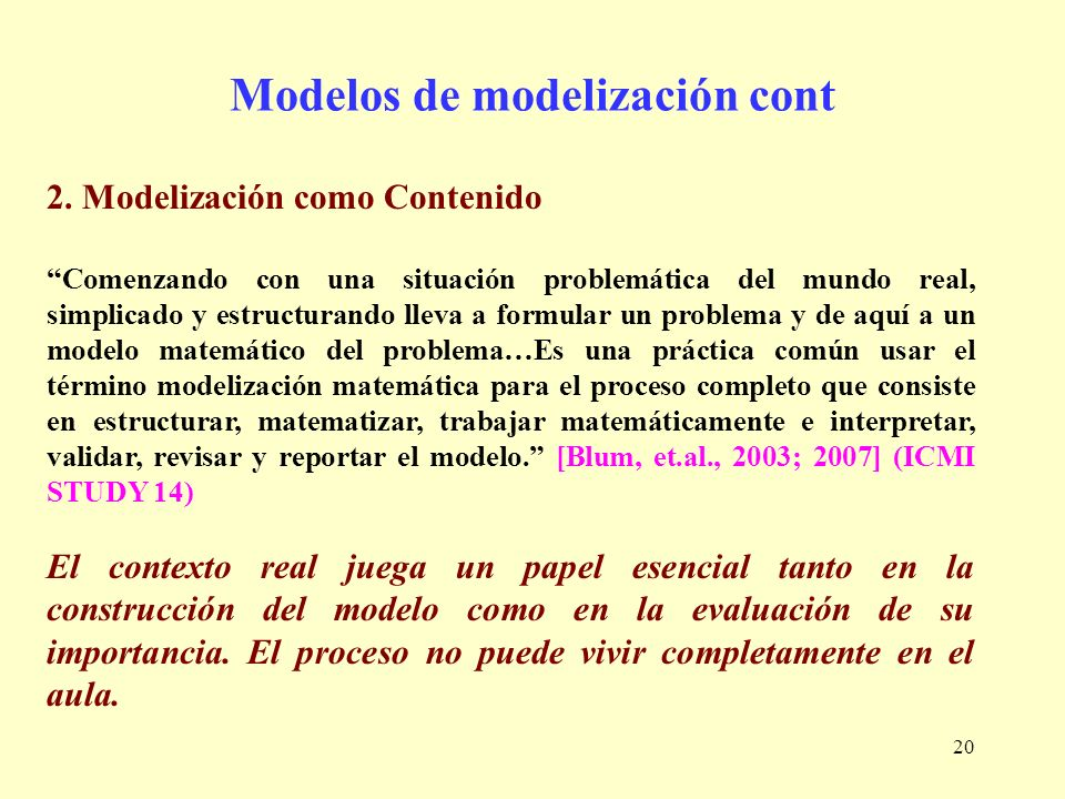 Modelos de modelización cont