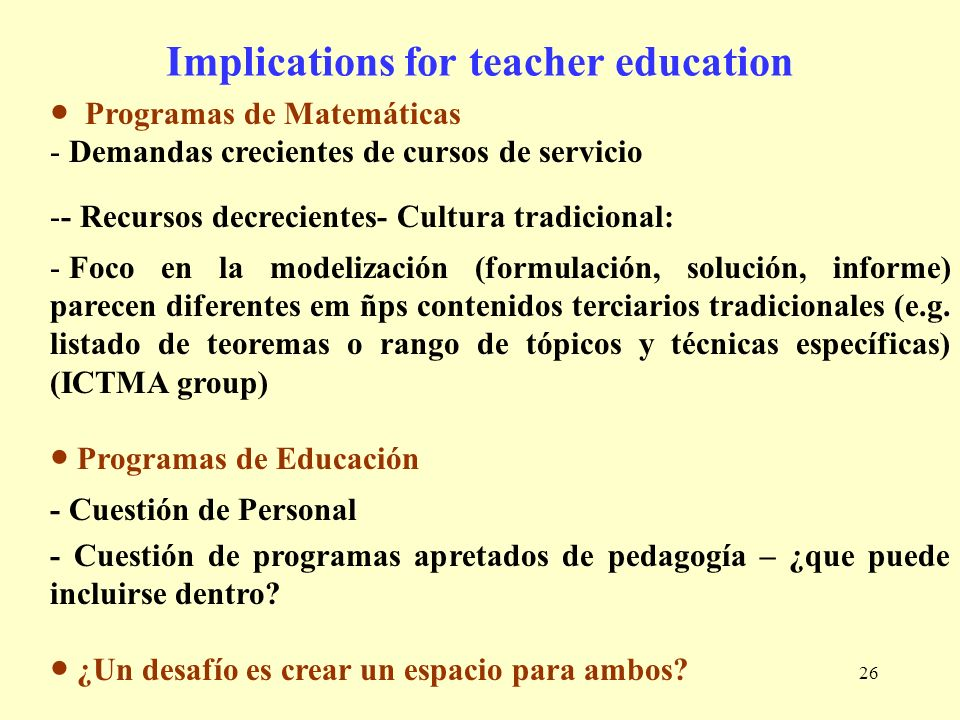 Implications for teacher education