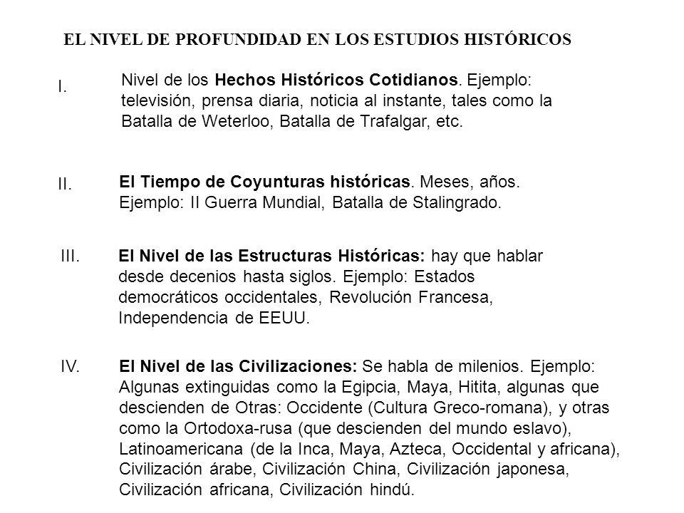EL NIVEL DE PROFUNDIDAD EN LOS ESTUDIOS HISTÓRICOS