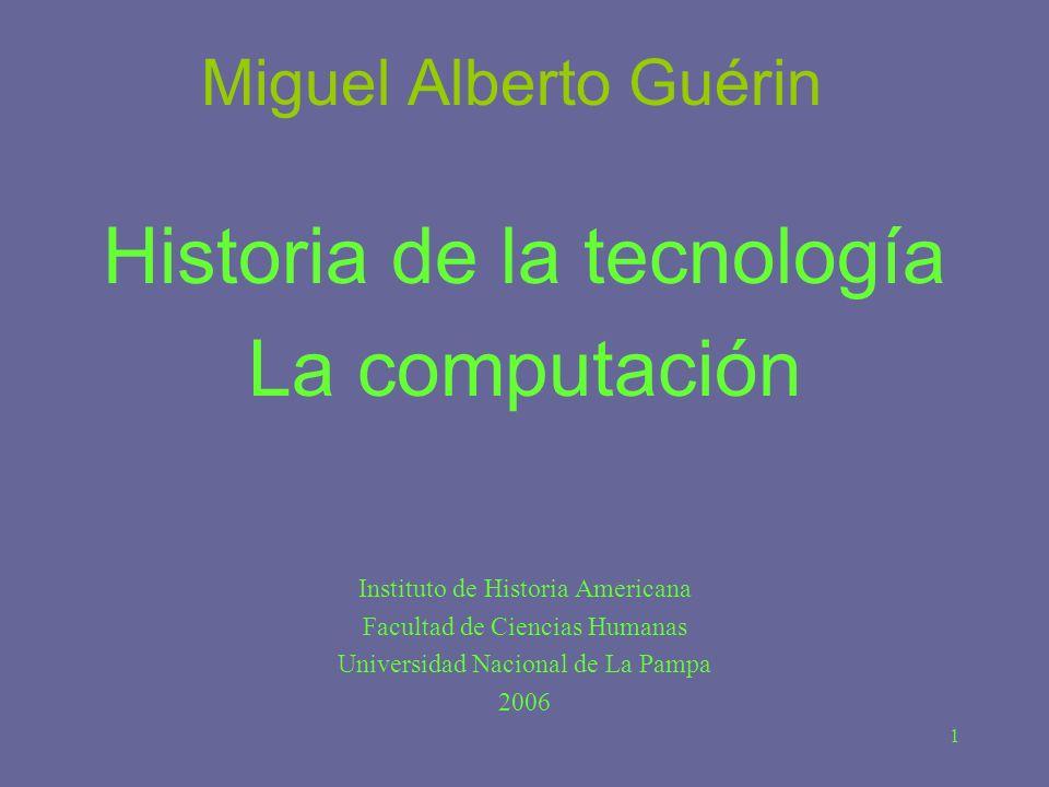 Historia de la tecnología La computación