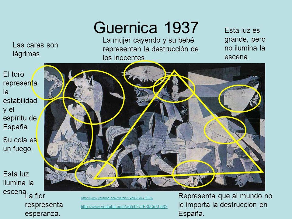 Guernica 1937 Esta luz es grande, pero no ilumina la escena.