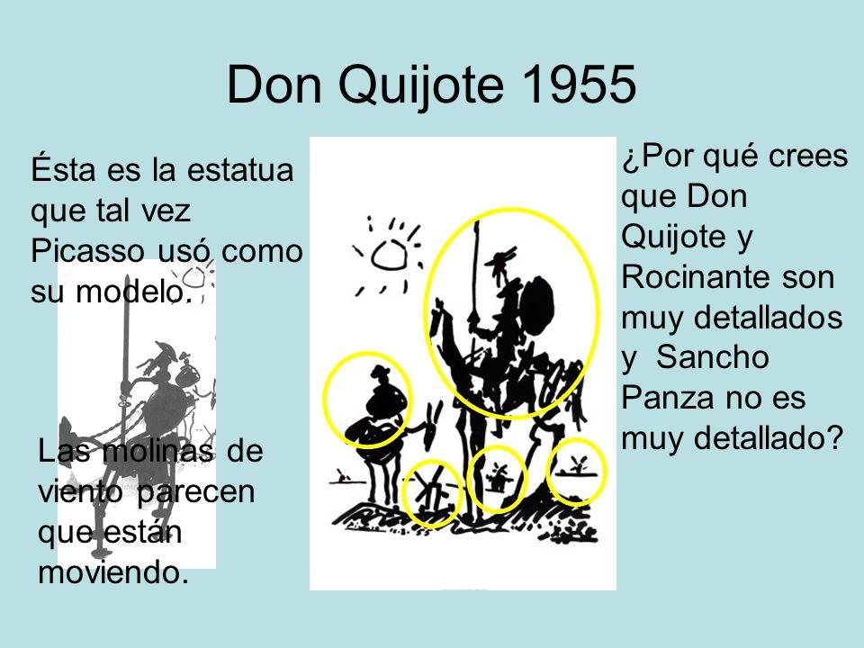 Don Quijote 1955 ¿Por qué crees que Don Quijote y Rocinante son muy detallados y Sancho Panza no es muy detallado