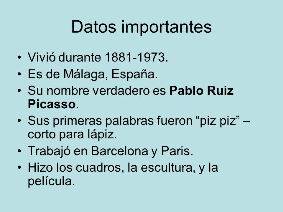 Datos importantes Vivió durante 1881-1973. Es de Málaga, España.
