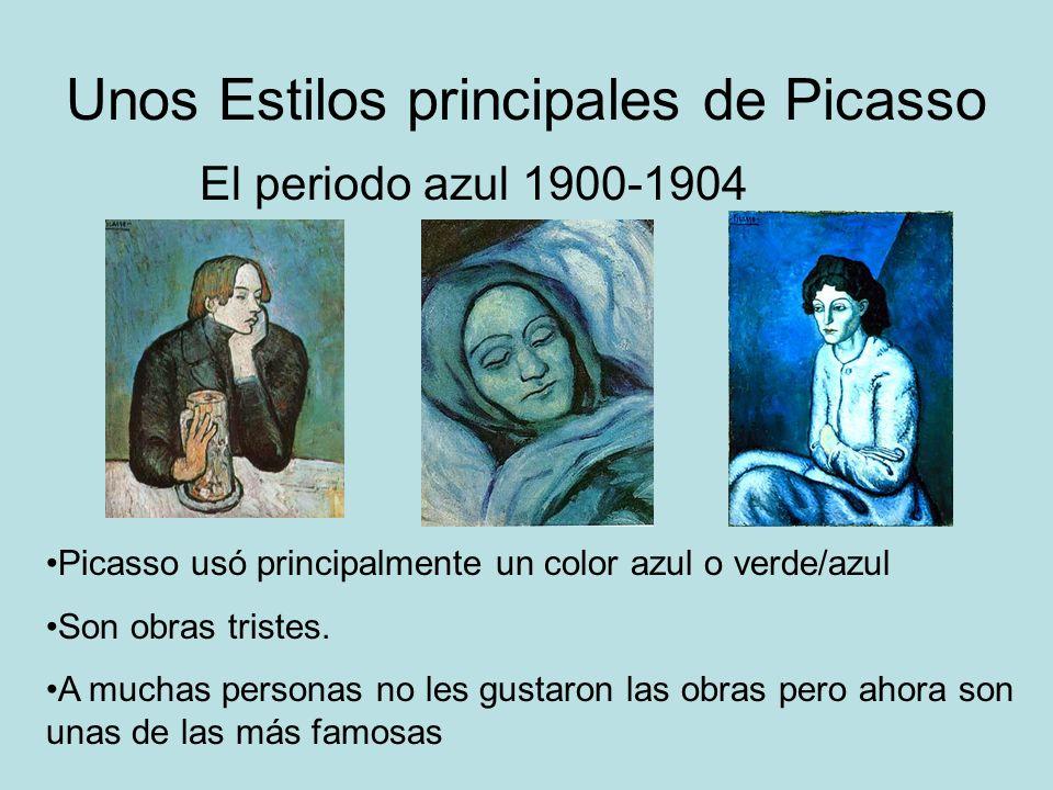 Unos Estilos principales de Picasso