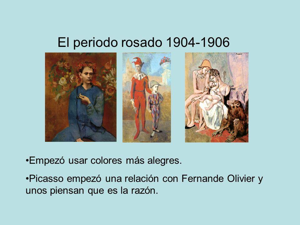 El periodo rosado 1904-1906 Empezó usar colores más alegres.