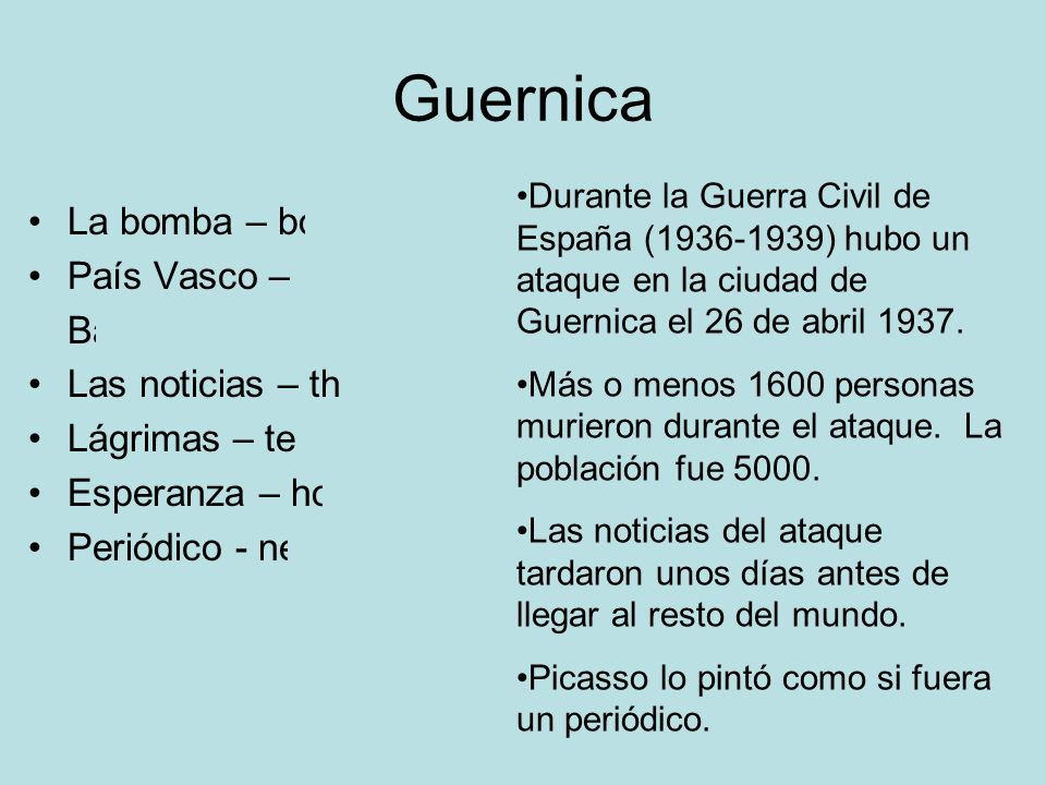 Guernica La bomba – bomb País Vasco – Basque Country