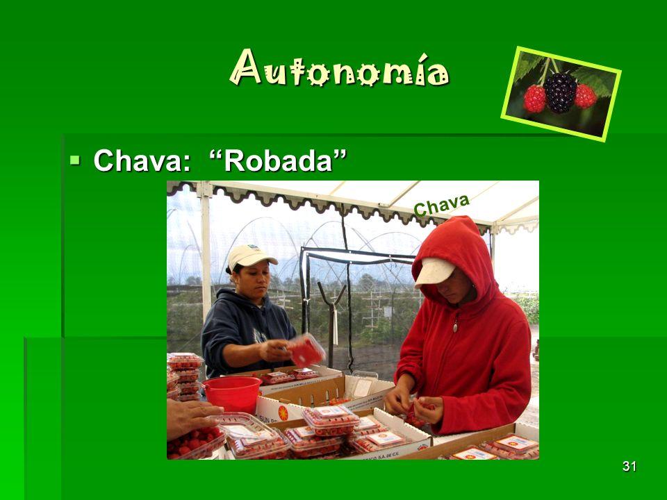 Autonomía Chava: Robada Chava