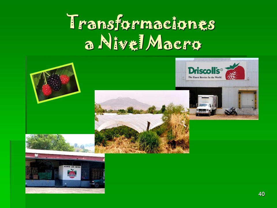 Transformaciones a Nivel Macro