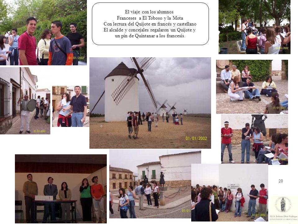 El viaje con los alumnos Franceses a El Toboso y la Mota