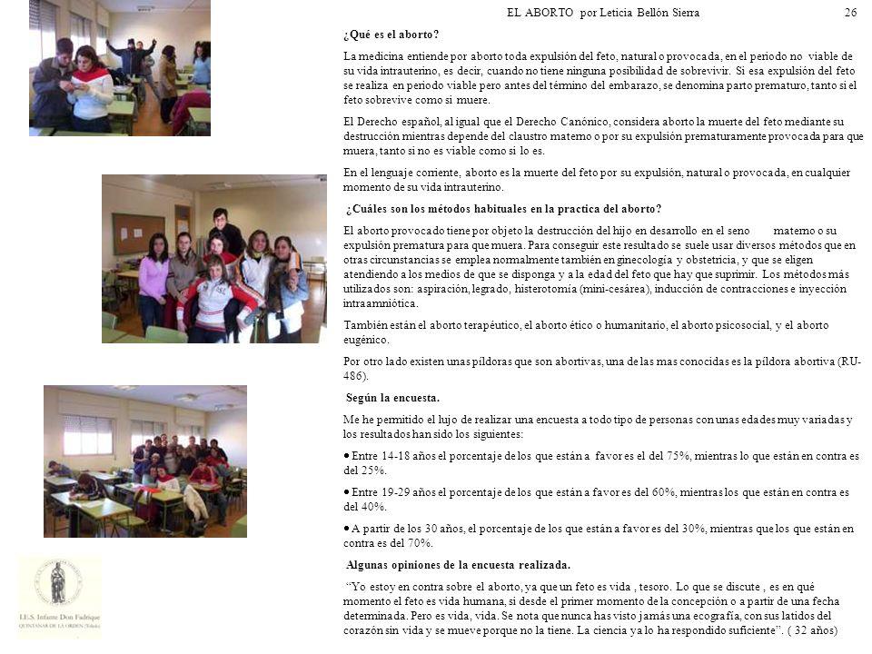 EL ABORTO por Leticia Bellón Sierra