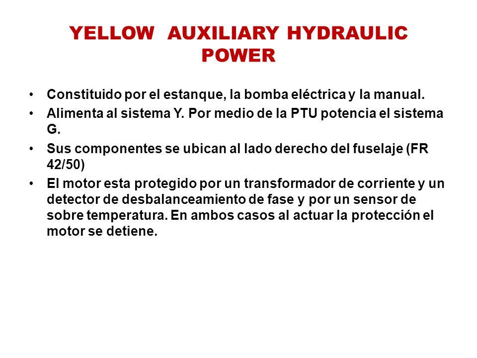 YELLOW AUXILIARY HYDRAULIC POWER