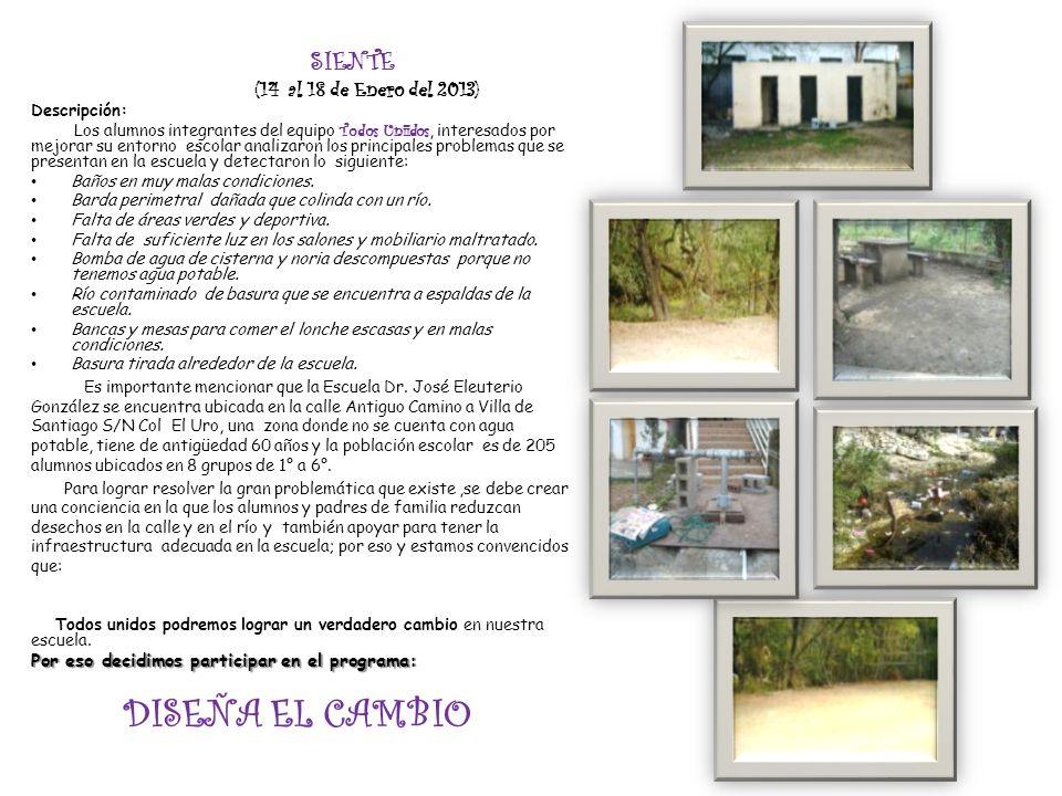 SIENTE (14 al 18 de Enero del 2013)