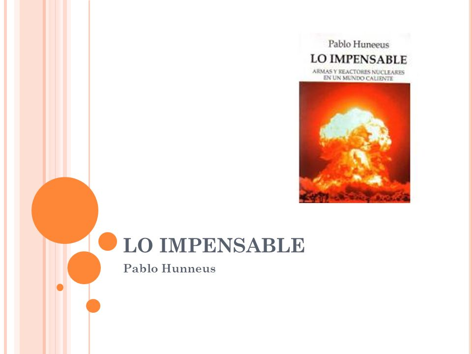 LO IMPENSABLE Pablo Hunneus