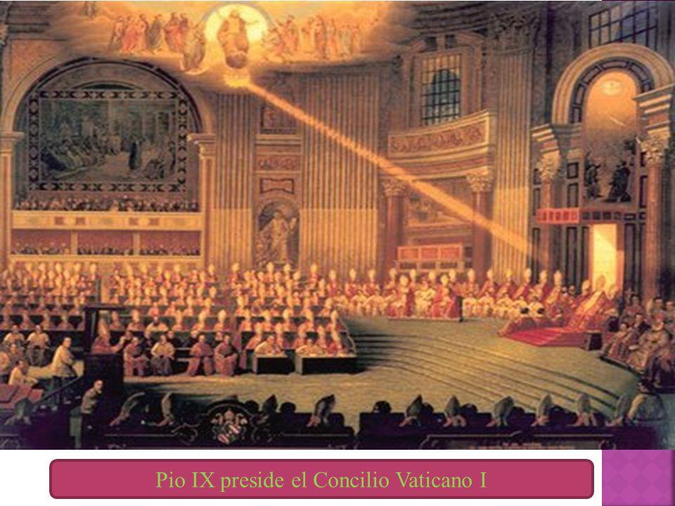 Pio IX preside el Concilio Vaticano I