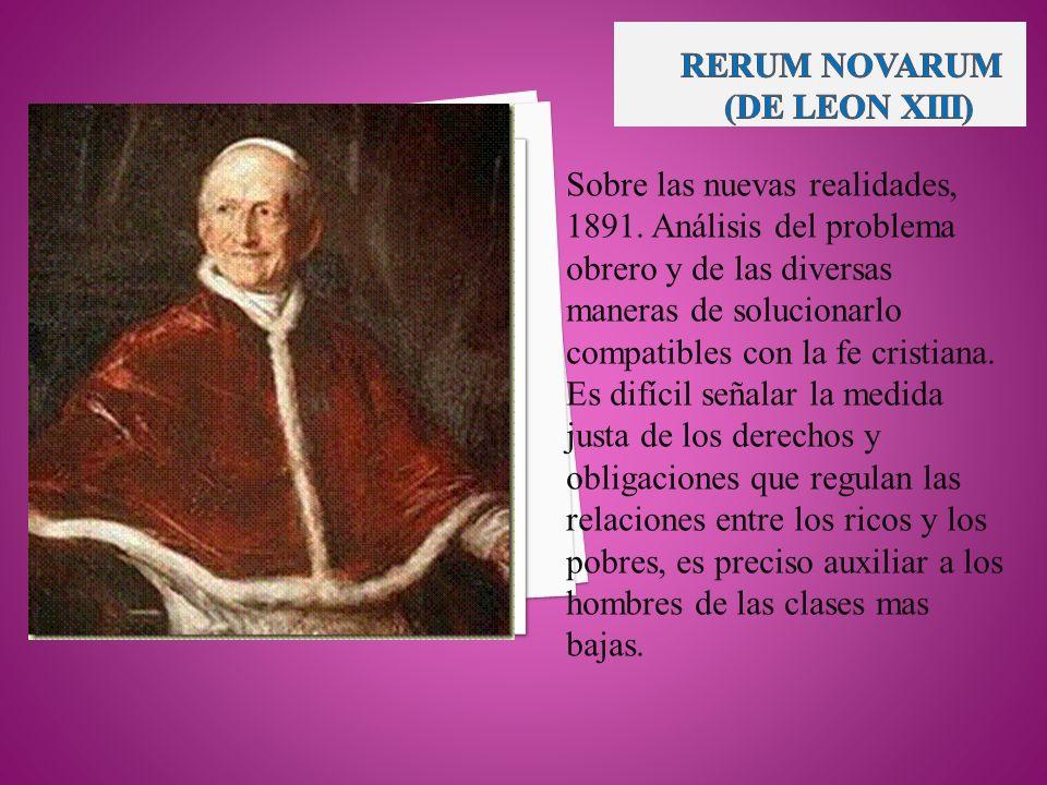 RERUM NOVARUM (DE LEON XIII)