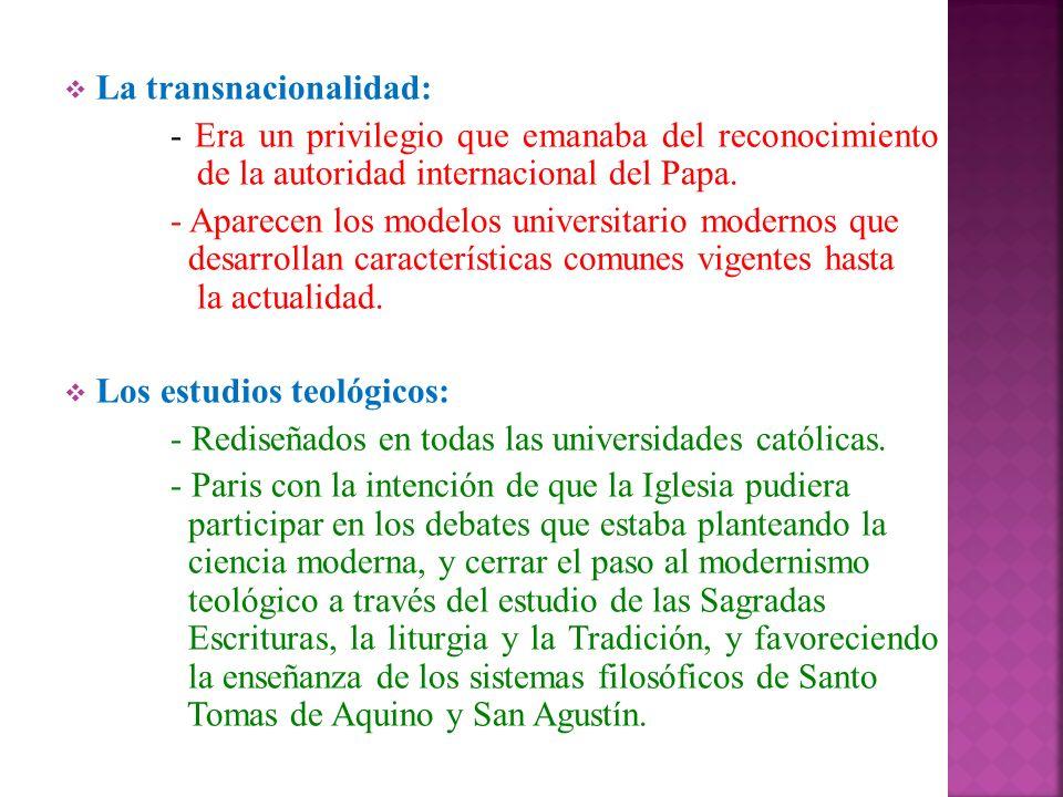 La transnacionalidad: