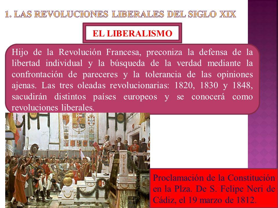 1. LAS REVOLUCIONES LIBERALES DEL SIGLO XIX