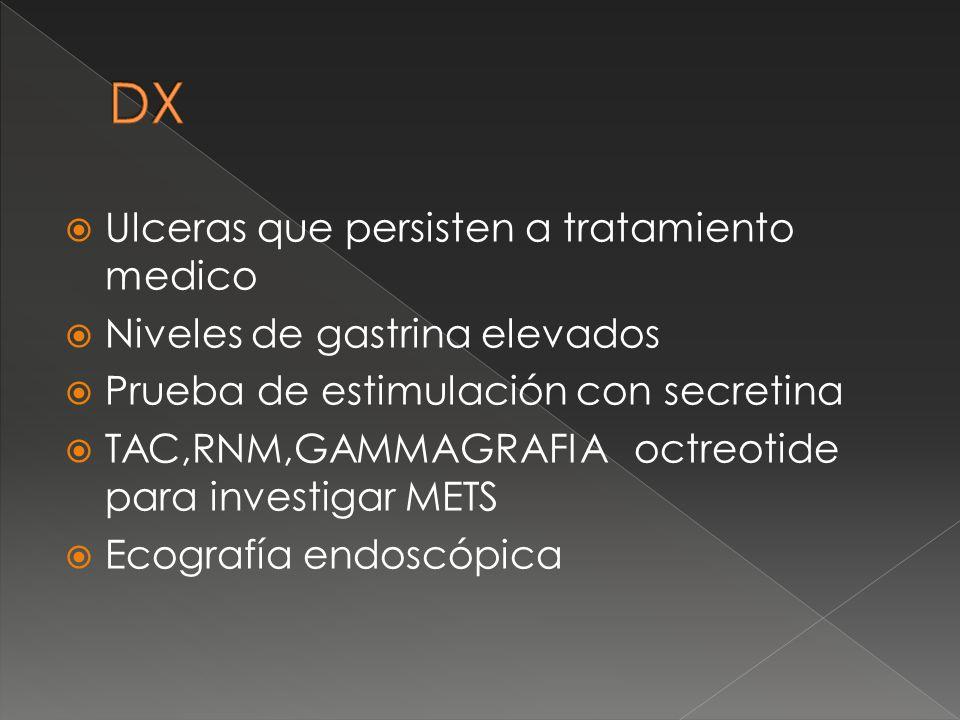 DX Ulceras que persisten a tratamiento medico