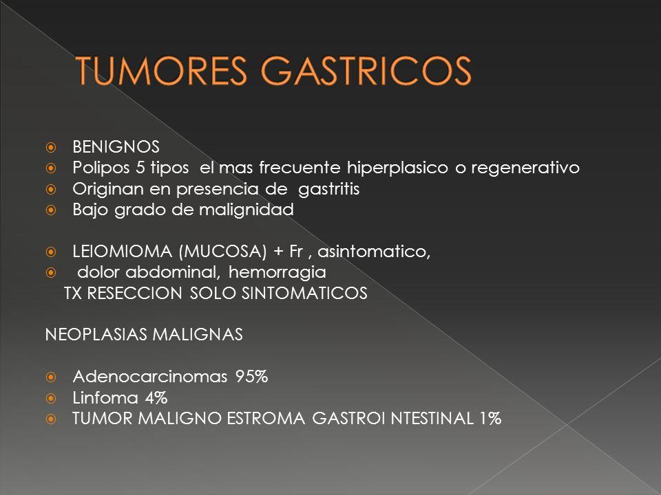 TUMORES GASTRICOS BENIGNOS