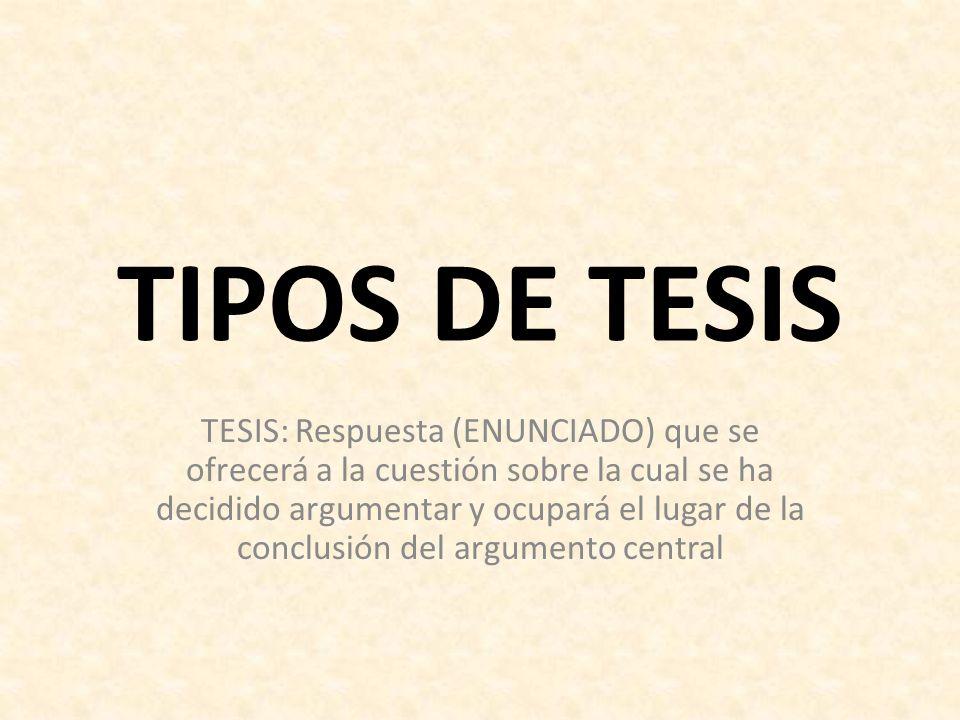 TIPOS DE TESIS