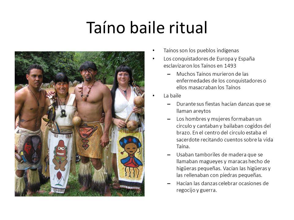 Taíno baile ritual Taínos son los pueblos indígenas