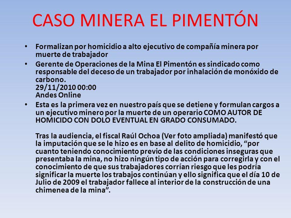 CASO MINERA EL PIMENTÓN