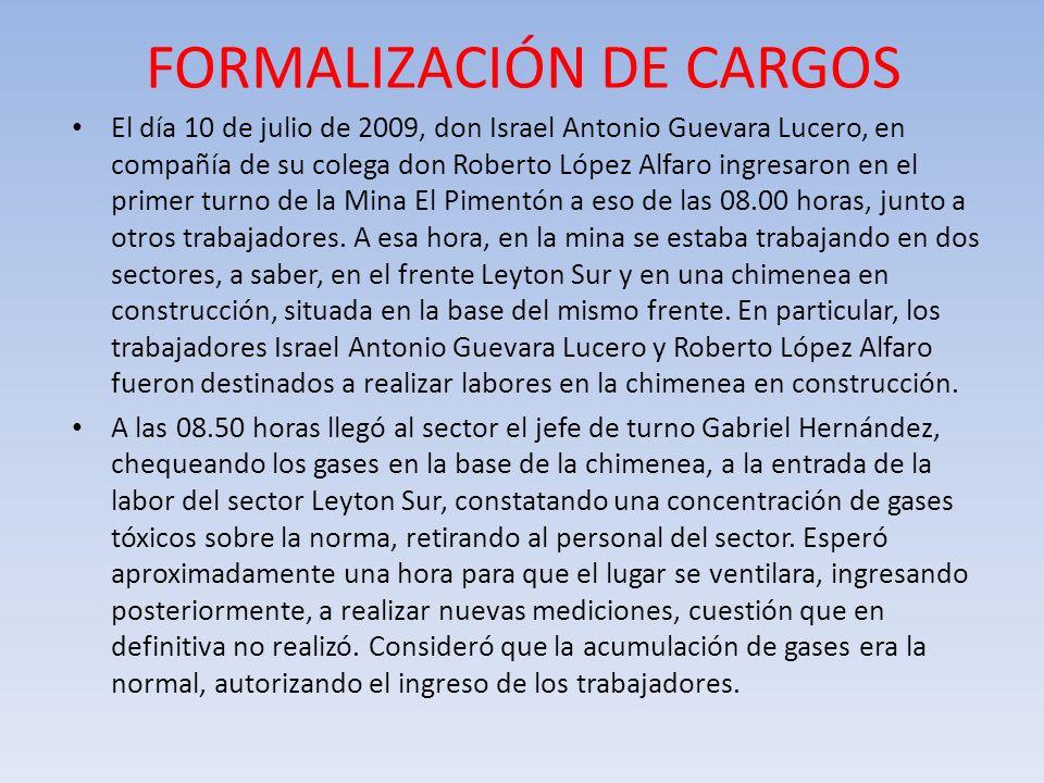 FORMALIZACIÓN DE CARGOS