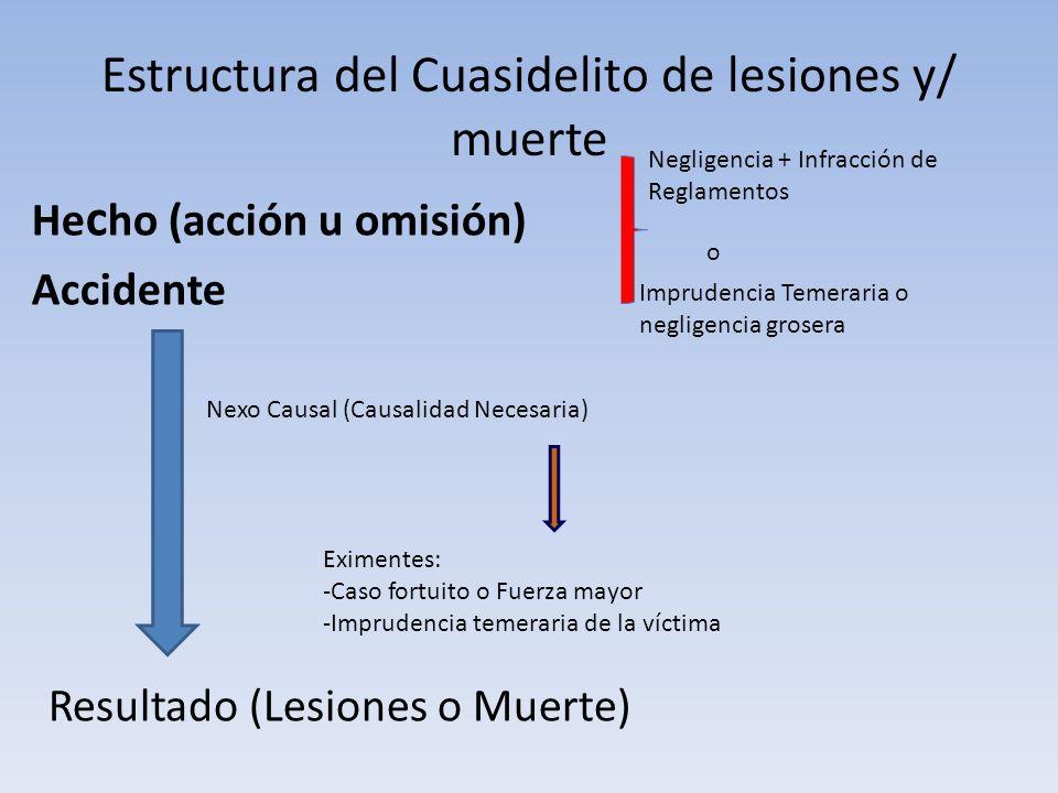 Estructura del Cuasidelito de lesiones y/ muerte