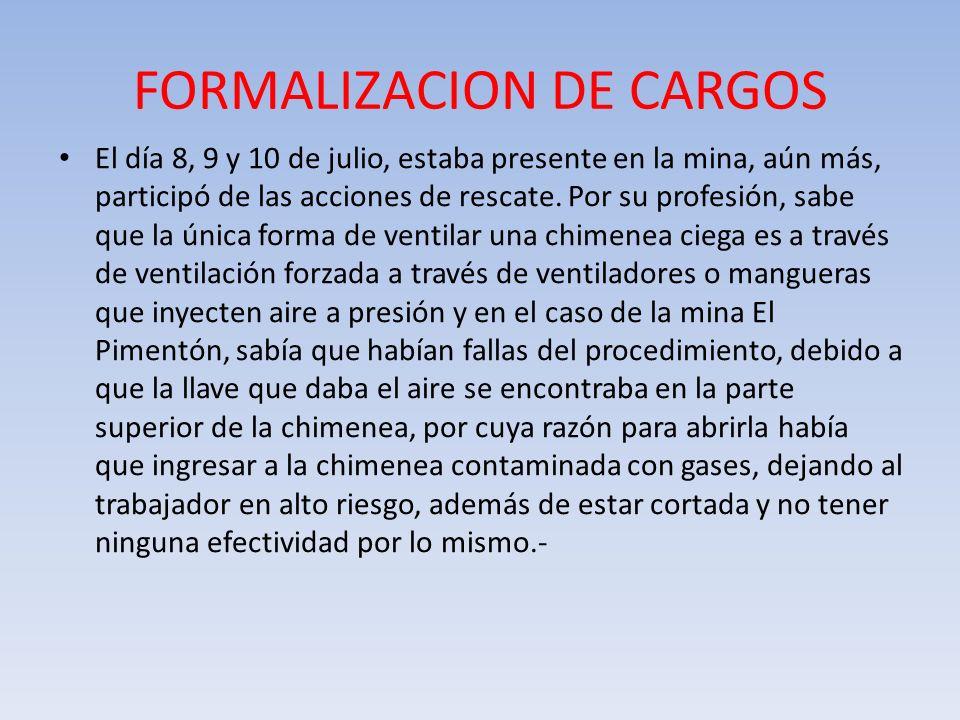 FORMALIZACION DE CARGOS