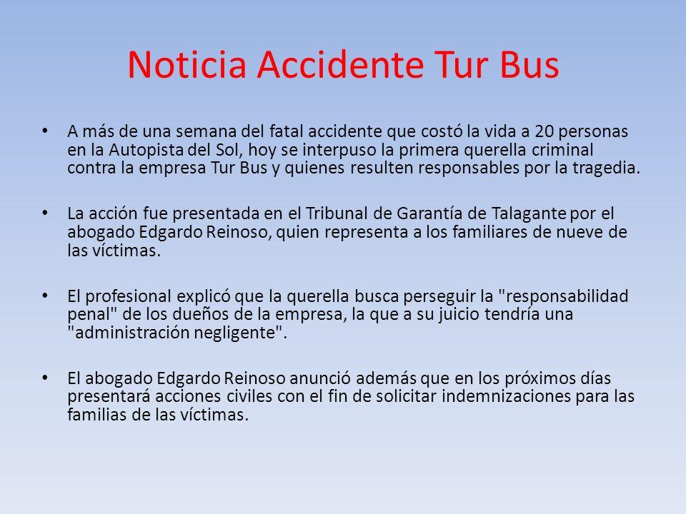 Noticia Accidente Tur Bus