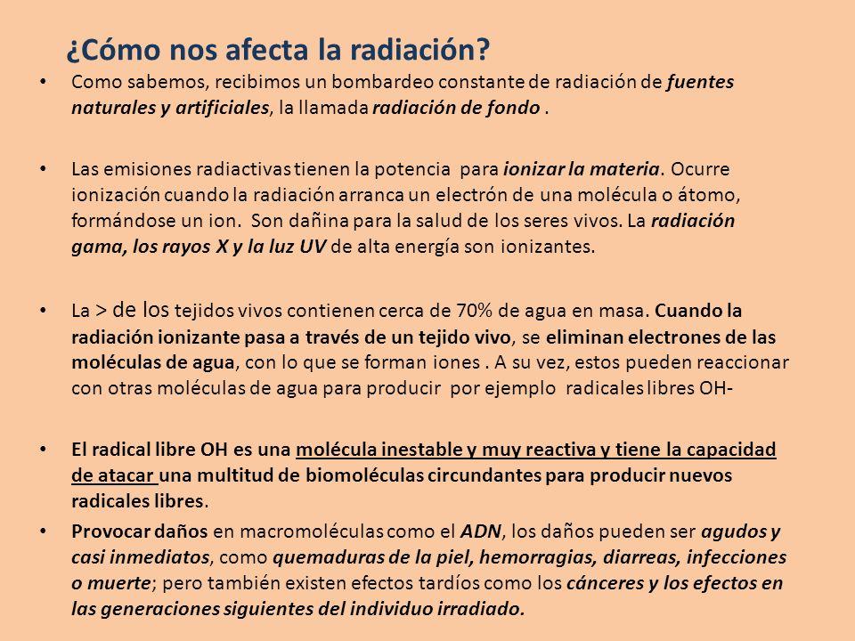 ¿Cómo nos afecta la radiación