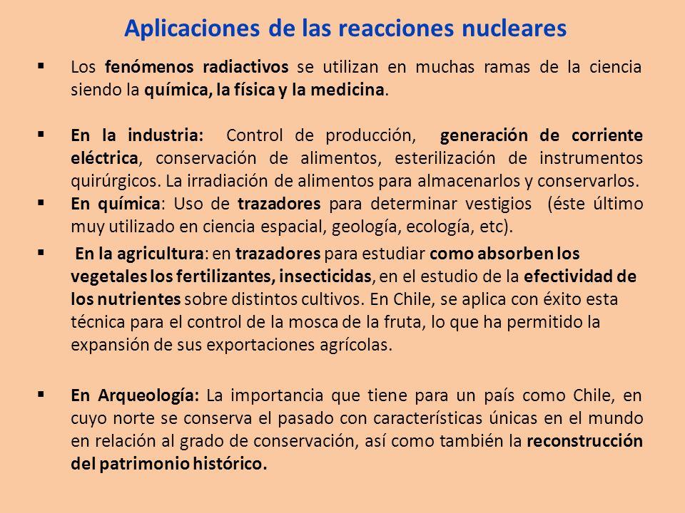 Aplicaciones de las reacciones nucleares