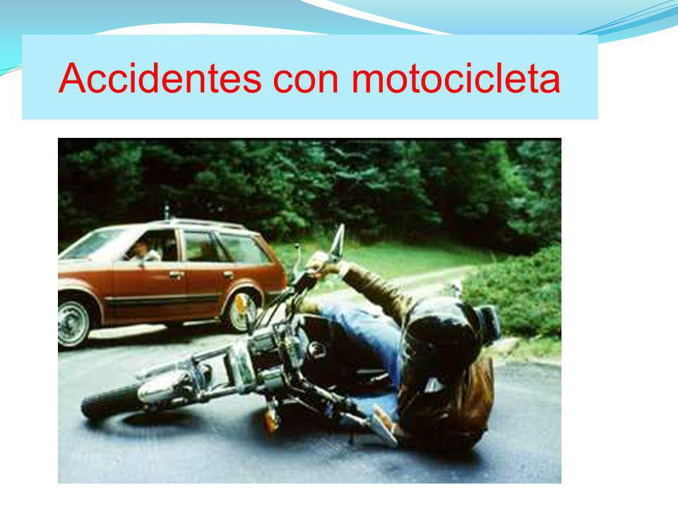 Accidentes con motocicleta