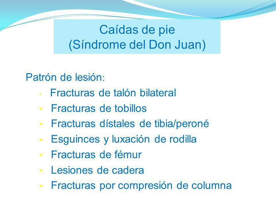 Caídas de pie (Síndrome del Don Juan)