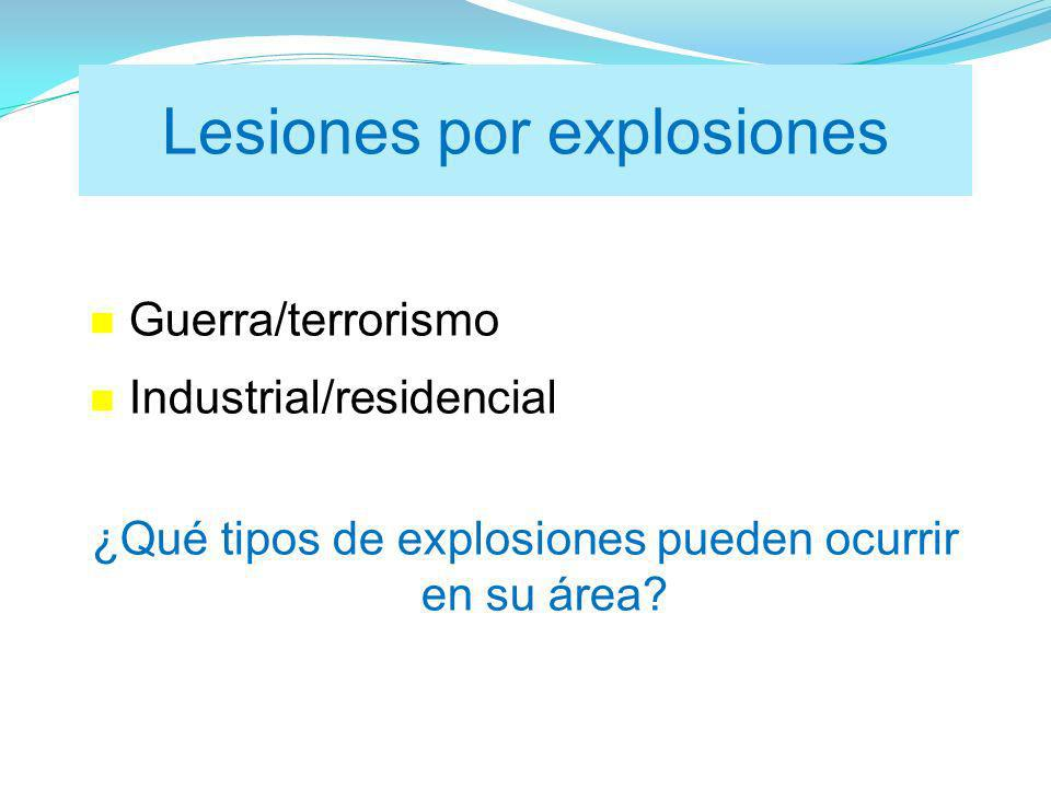 Lesiones por explosiones
